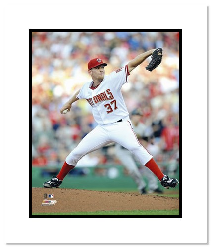 Stephen Strasburg Washington Nationals MLB Double Matted 8x10 Photograph MLB Debut 2010 Pitching