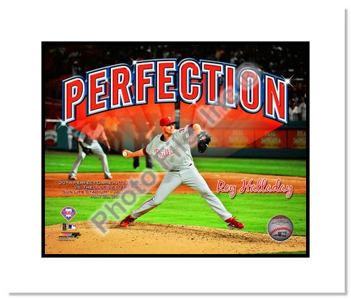 Roy Halladay Philadelphia Phillies MLB 8x10 Photograph Perfect Game 5/29/10