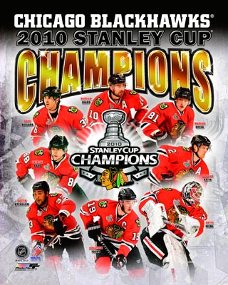 2010 Chicago Blackhawks NHL 8x10 Photograph Stanley Cup Champions Collage