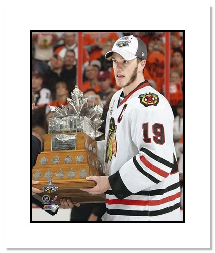 Jonathan Toews Chicago Blackhawks NHL Double Matted 8x10 Photograph with 2010 Conn Smythe Trophy