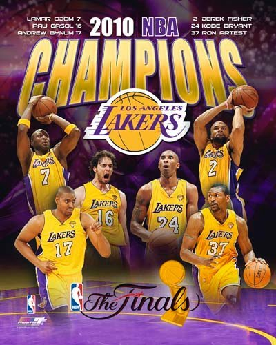 2010 Los Angeles Lakers NBA 8x10 Photograph NBA Finals Champions Collage