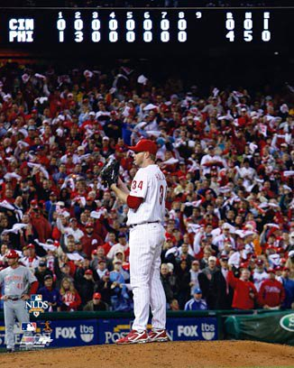 Roy Halladay Philadelphia Phillies 8x10 Photograph 2010 NLDS Perfect Game Scoreboard