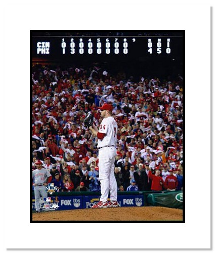 Roy Halladay Philadelphia Phillies Double Matted 8x10 Photograph 2010 NLDS Perfect Game Scoreboard