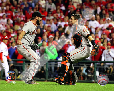 Brian Wilson and Buster Posey San Francisco Giants 8x10 Photograph 2010 NLCS Celebration