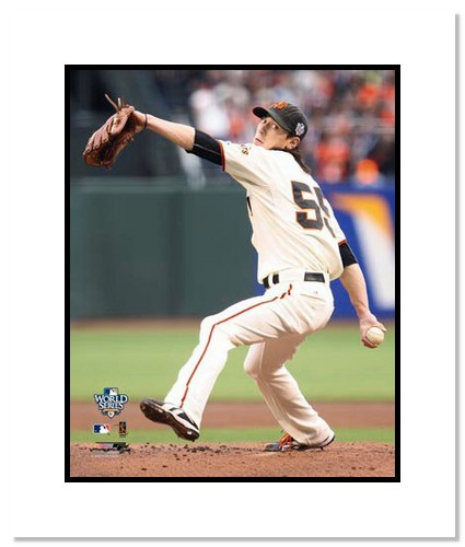 Tim Lincecum San Francisco Giants Double Matted 8x10 Photograph 2010 World Series Game 1