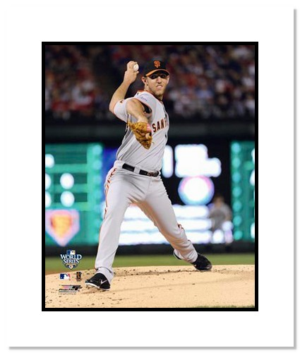 Madison Bumgarner San Francisco Giants Double Matted 8x10 Photograph 2010 World Series Game 4