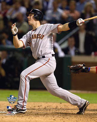 Buster Posey San Francisco Giants 8x10 Photograph 2010 World Series Game 4