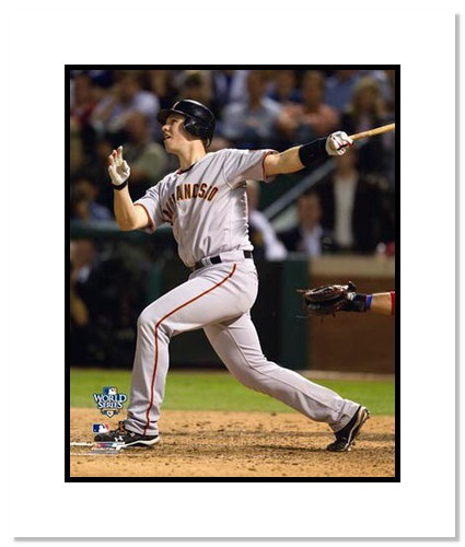 Buster Posey San Francisco Giants Double Matted 8x10 Photograph 2010 World Series Game 4