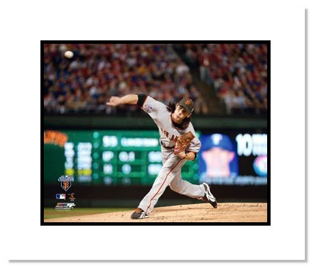 Tim Lincecum San Francisco Giants Double Matted 8x10 Photograph 2010 World Series Game 5