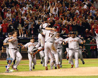 2010 World Series San Francisco Giants 8x10 Photograph Team Celebration 1