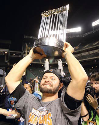 Cody Ross San Francisco Giants 8x10 Photograph 2010 World Series Trophy