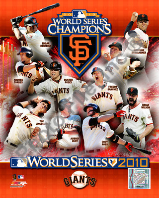 2010 World Series San Francisco Giants 8x10 Photograph Team Champions Collage