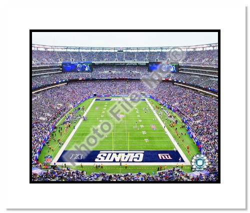 2010 New York Giants Double Matted 8x10 Photograph New Meadowlands Stadium