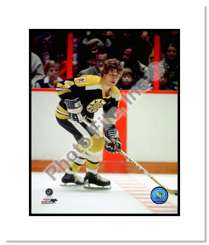 Bobby Orr Boston Bruins NHL Double Matted 8x10 Photograph Black Jersey