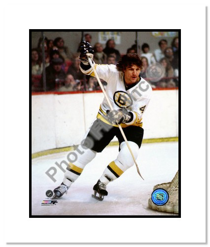 Bobby Orr Boston Bruins NHL Double Matted 8x10 Photograph White Jersey