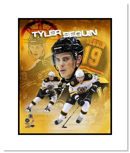 Tyler Seguin Boston Bruins NHL Double Matted 8x10 Photograph Portrait Plus Collage