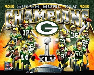 2011 Green Bay Packers NFL 8x10 Photograph Super Bowl XLV Champions Collage