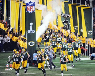 2011 Green Bay Packers NFL 8x10 Photograph Super Bowl XLV Team Introduction