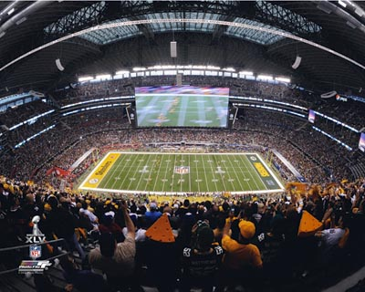 2011 Green Bay Packers NFL 8x10 Photograph Super Bowl XLV Kickoff Cowboys Stadium