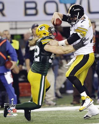 Clay Mathews Green Bay Packers NFL 8x10 Photograph Super Bowl XLV Sacking Big Ben