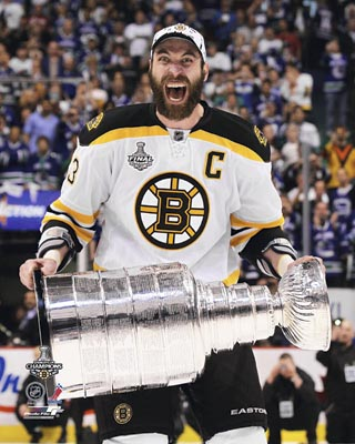 Zdeno Chara Boston Bruins NHL 8x10 Photograph Stanley Cup Champs with Cup