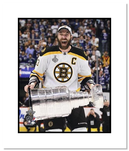 Zdeno Chara Boston Bruins NHL Double Matted 8x10 Photograph Stanley Cup Champs with Cup