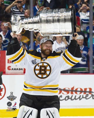Tim Thomas Boston Bruins NHL 8x10 Photograph Stanley Cup Champs with Cup