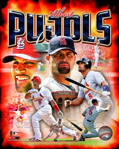 Albert Pujols St Louis Cardinals MLB 8x10 Photograph Player Collage