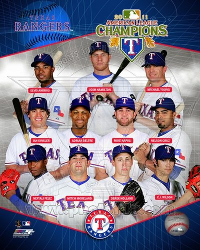 2011 Texas Rangers MLB 8x10 Photograph American League Champions Team Collage