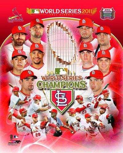 2011 St Louis Cardinals MLB 8x10 Photograph World Series Champions Team Collage