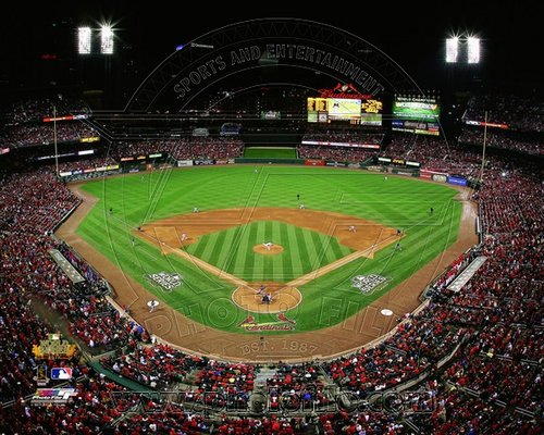2011 St Louis Cardinals MLB 8x10 Photograph World Series Busch Stadium Game 1 Field