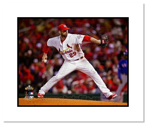 Chris Carpenter St Louis Cardinals MLB Double Matted 8x10 Photograph 2011 World Series Game 1 Pitching