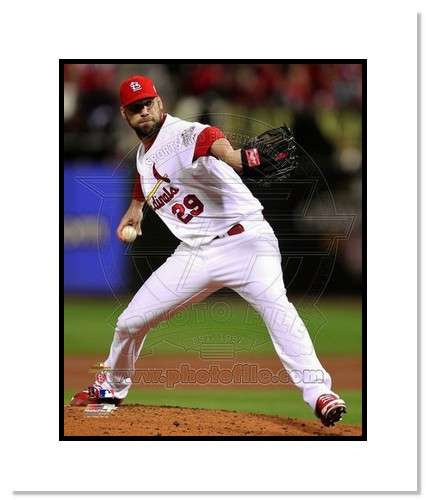 Chris Carpenter St Louis Cardinals MLB Double Matted 8x10 Photograph 2011 World Series Game 7