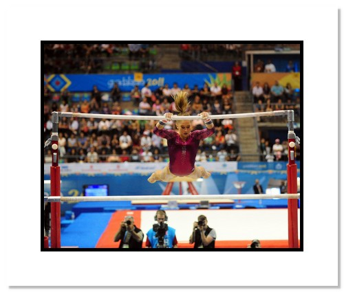 Shawn Johnson USA Olympics Gymnastics Double Matted 8x10 Photograph 2011 Uneven Bars #2