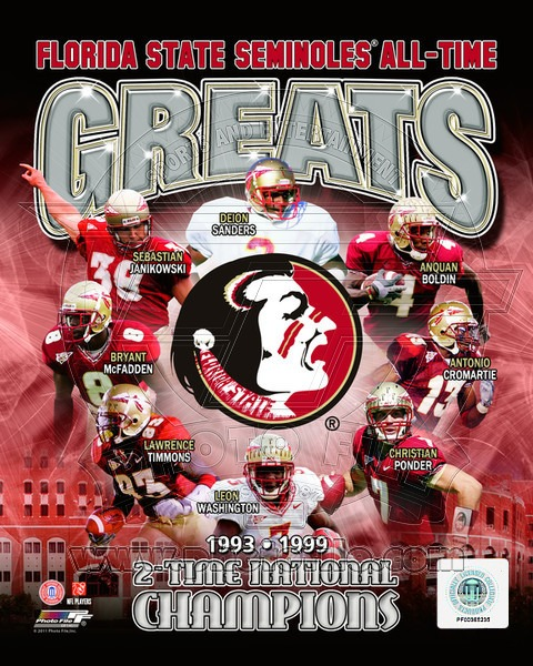 Florida State Seminoles All Time Greats NCAA 8x10 Photograph National Champs Collage