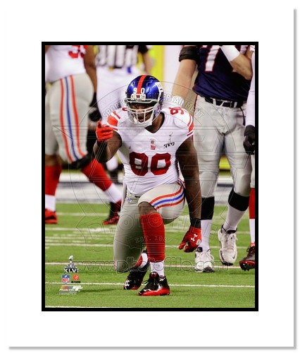 Jason Pierre-Paul 2012 New York Giants NFL Double Matted 8x10 Photograph Super Bowl XLVI Champions Celebration
