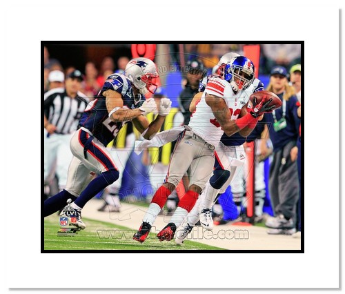 Mario Manningham 2012 New York Giants NFL Double Matted 8x10 Photograph Super Bowl XLVI Champions The Catch