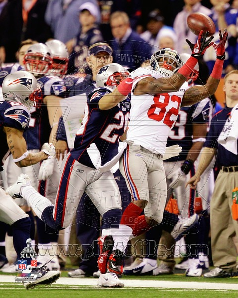 Mario Manningham 2012 New York Giants NFL 8x10 Photograph Super Bowl XLVI Champions The Catch 2