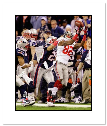Mario Manningham 2012 New York Giants NFL Double Matted 8x10 Photograph Super Bowl XLVI Champions The Catch 2