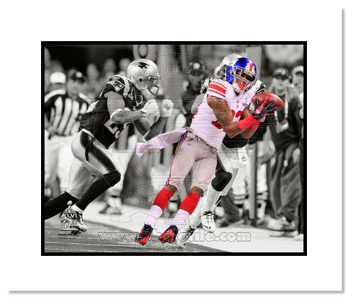 Mario Manningham 2012 New York Giants NFL Double Matted 8x10 Photograph Super Bowl XLVI Champions The Catch Spotlight