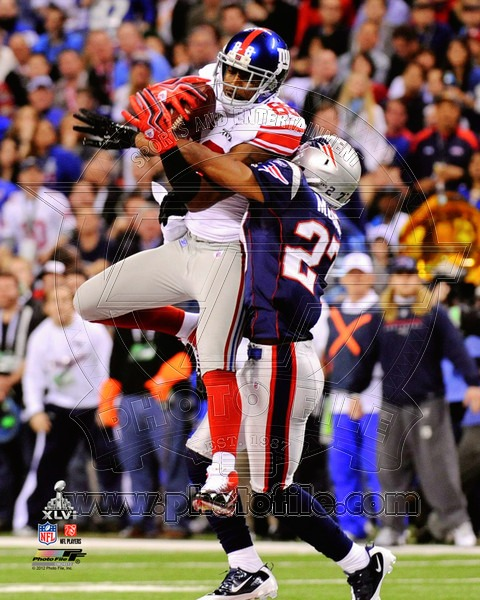 Hakeem Nicks 2012 New York Giants NFL 8x10 Photograph Super Bowl XLVI Champions Catch