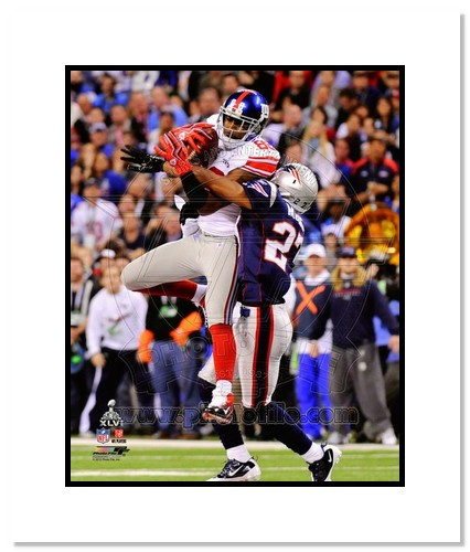 Hakeem Nicks 2012 New York Giants NFL Double Matted 8x10 Photograph Super Bowl XLVI Champions Catch