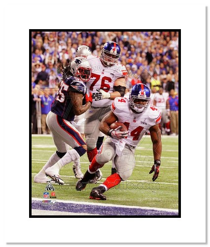 Ahmad Bradshaw 2012 New York Giants NFL Double Matted 8x10 Photograph Super Bowl XLVI Champions Touchdown Run