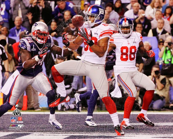 Victor Cruz 2012 New York Giants NFL 8x10 Photograph Super Bowl XLVI Champions Touchdown Catch