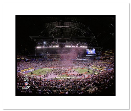 2012 New York Giants NFL Double Matted 8x10 Photograph Super Bowl XLVI Champions Stadium Shot Celebration