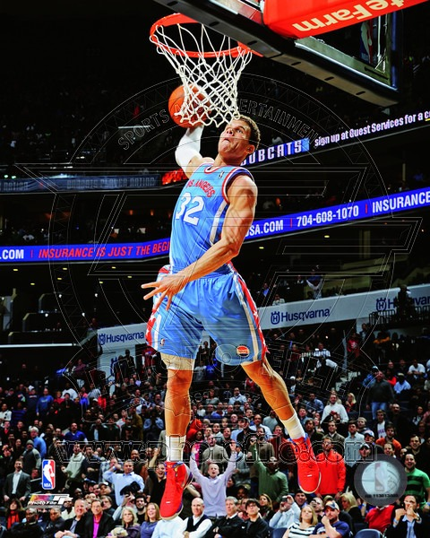 Blake Griffin Los Angeles Clippers NBA 8x10 Photograph Dunking vs Charlotte