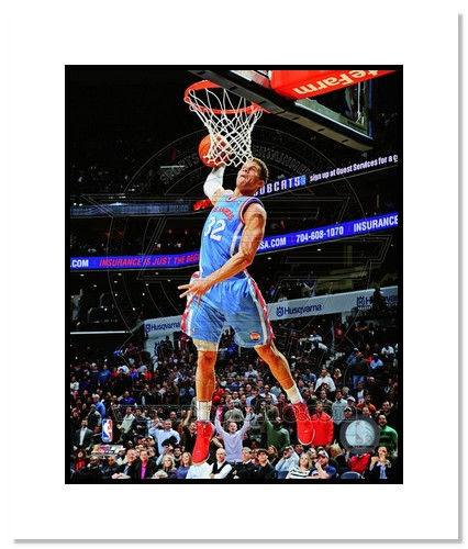 Blake Griffin Los Angeles Clippers NBA Double Matted 8x10 Photograph Dunking vs Charlotte