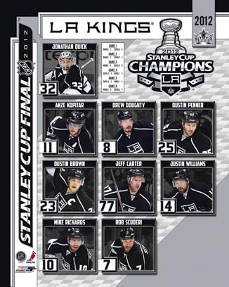 2012 Los Angeles Kings NHL 8x10 Photograph Stanley Cup Champions Collage