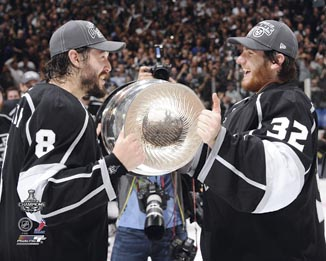 Drew Doughty & Jonathan Quick Los Angeles Kings NHL 8x10 Photograph Holding Stanley Cup