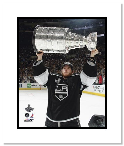 Jonathan Quick Los Angeles Kings NHL Double Matted 8x10 Photograph Holding Stanley Cup